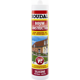 Mastic silicone construction transparent Soudal.