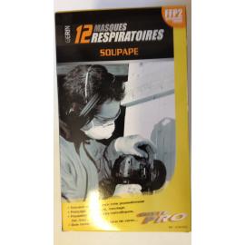 Boite de 12 masques pliables respiratoires.