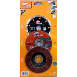 Pack meuleuse 7 disques Leman.