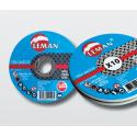 Boite de 10 disques à tronçonner inox Leman.
