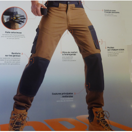 Pantalon Profil Kooper beige.