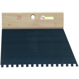 Peigne à colle avec denture carrée de 6 mm.